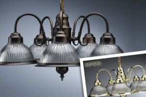 Light Fixture Before and After