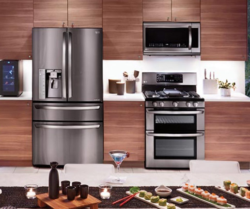 Kitchen Design Pictures Black Appliances: Black Stainless Steel Appliances